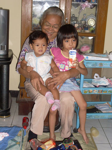 with my beloved granny and cousin