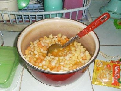 sup buah hampir jadi